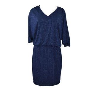 MSK Womens Blouson Dress Cold Shoulder New